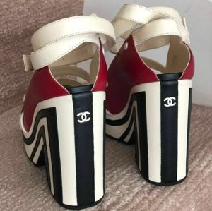 Rare Collector CHANEL Runway Platform Sandals 37.5